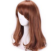 Браун Мода волнистые курчавых продукты секса Парики Natual реалистичные парики косплей парики дешевые синтетические волосы парики челку