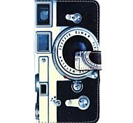 Kamera-Muster PU Ledertasche mit Geld-Inhaber-Kartensteckplatz für Galaxie grand prime G530 / galaxy Kern prime 360