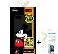"""Disney Mickey caso della copertura del mouse per iPhone6 più 5.5 """"gratuito con la protezione dello schermo headfore per iPhone6 più"""