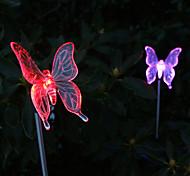 Packung mit 2 solar Farbwechsel-Schmetterlingsgarten Beteiligung Licht