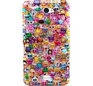 Lovely Face Pattern Glitter TPU Cell Phone Soft Shell For Sony E4