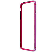 Ultra-Thin Protective Aluminum Alloy + Silicone Bumper Frame Case for iPhone 6 Plus - Rose