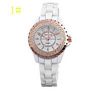 Women's Watches  Brand Diamond Ceramic Table Fashion Watch Fashion Ladies Watch  Jelly Retro Tide