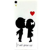 ragazzi e ragazze modello materiale TPU soft phone per Huawei p7