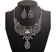 Alloy Gold Plated With Cut Out Butterfly Jewelry Sets (Including Necklace,Earrings)