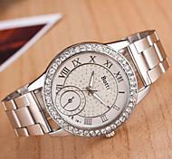 Ladies' Round Dial Case Alloy Watch Brand Fashion Quartz Watch