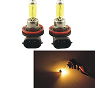 2PCS Carking™ KOBO H8/H11 550LM 3000K Yellow Light Car Halogen Headlight(DC 12V)