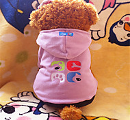 Dog Hoodies - XS / S / M / L - Winter - Pink / Purple Polar Fleece
