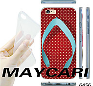 MAYCARI®White Dots Flip-flops Pattern Transparent TPU Soft Back Case for iPhone 6