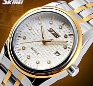 SKMEI® Men's Dress Watch Elegant Design Japanese Quartz Calendar/Water Resistant Stainless Steel Strap