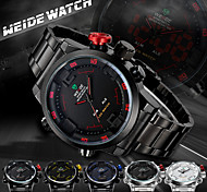 WEIDE Men Fashion Analog Digital Sport Watch Stainless Steel Stopwatch/Alarm Backlight/Waterproof