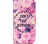 Flowers Pattern PU Leather Phone Case For iPhone 6