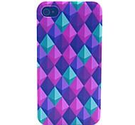 Farbe Diamant-Muster PC-Material Telefonkasten für iphone 4 / 4s