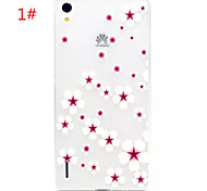 Painted TPU Soft Back Cover for Huawei P7