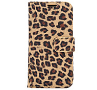 Leopard Leather Case with Card Slots and Holder for One M9