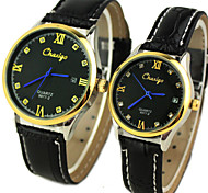 Couple's Classic Dial  Calendar Leather Band Quartz Analog Wrist Watch Cool Watches Unique Watches