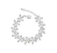 europeo sonrisa estilo de moda pulsera de cristal de flor en flor