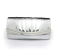 Handbag Faux Leather Evening Handbags/Clutches/Mini-Bags With Chain/Crystal/ Rhinestone