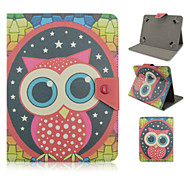 Big-eyed Owl Pattern High Quality PU Leather with Stand Case for 10 Inch Universal Tablet
