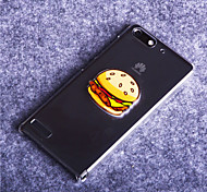 Hamburger Pattern PC Hard Cover Case for Huawei Ascend G6