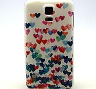 Para Funda Samsung Galaxy Diseños Funda Cubierta Trasera Funda Corazón TPU Samsung S5 Mini / S5 / S4 Mini / S4 / S3 Mini / S3