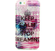 Keep Calm Stop Reamin Pattern Ultra Thin Soft TPU Back Cover Case for iPhone 6