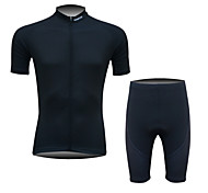 FINEOU Men's Short Sleeve Spring/Summer/Autumn Cycling Suits Shorts Breathable/Quick Dry/Front Zipper/Back Pocket/3D Pad