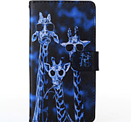 Crazy Deers Pattern PU Leather Full Body Case with Stand for Multiple Samsung Galaxy E5/E7/J1/J5/J7