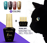 4pcs / lot azuis olhos de gato absorver off gel uv gel uv magnético unha polonês polonês para a arte do prego (# 63 + 64 + # # # 65 + 66)