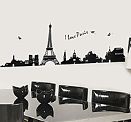 Mini Black Eiffel Tower PVC Wall Sticker Wall Decals