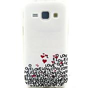 liebe Muster TPU-Material-Telefonkasten für Samsung-Galaxie J1 / galaxy j5 / galaxy J7 / galaxy Kern prime G360