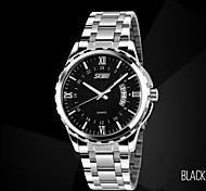 relojes de los hombres del calendario del negocio exquisita franja impermeable reloj de cuarzo luminoso auténtica Skmei
