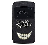 Tooth Pattern PU Material Window Full Body Case for Alcatel C5/C7/C9
