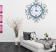 Modern Fashion Iron Diamond Design Wall Clock