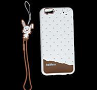 la crème glacée tout bord entièrement clos de cas de silicium pour l'iphone 6 / 4,7 pouces 6s