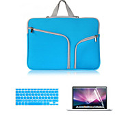 2016 Hot Selling Canvas Double Chain Notebook Bag with Keyboard Cover and Screen Flim for  MacBook Retina 15.4inch