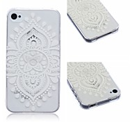 Lace Chinese Knot Pattern TPU Soft Case for iPhone4/4S