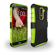 LG G2 Plastic / TPU Back Cover / Cases with Stand Special Design / Mixed Color case cover