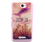 Pink Sky Dream On Pattern TPU Acrylic Soft Case for Sony E4