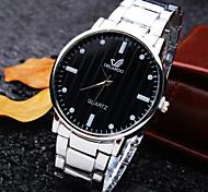 reloj nueva personalidad clásica redonda de acero de línea de moda correa de cuarzo de los hombres de negocios (colores surtidos)
