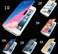 7 Colour Prints PU Leather Full Body Case for iPhone 4/4S (Assorted Color)
