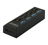 usb 3.0 hub de 4 puertos 5Gbps alta cable adaptador de súper velocidad con interruptor de pc portátil