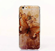 Large Butterfly Pattern TPU Soft Cover for iPhone 6