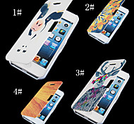 Cartoon Pattern PU Leather Full Body Case for iPhone 4/4S (Assorted Color)