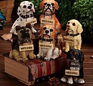 Sinal bem-vindo stitting figura cão de sorriso decoração cafe cachorro casa (cor aleatória)