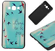 Born To Be Free Pattern PC Hard Back Cover Case for Samsung Galaxy A8