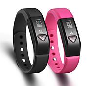 i5 indossabile schermo intelligente braccialetto braccialetto bluetooth4.0 pedometro / monitor sonno per Android ios smartphone /