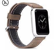 2015 venta caliente hoco r cuero genuino reemplazo simple correa de hebilla clásica para el reloj de manzana 38mm / 42mm