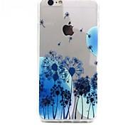Dandelion design TPU Acrylic Soft Case for iPhone 6 4.7inch
