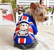Katzen / Hunde Mäntel / T-shirt Rot / Blau Hundekleidung Winter Amerikaner / USA / Karton Hochzeit / Cosplay
